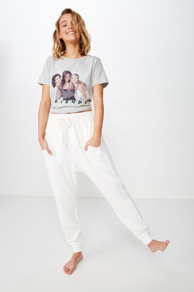 Printed T-Shirt, LCN WB GREY MARLE/FRIENDS