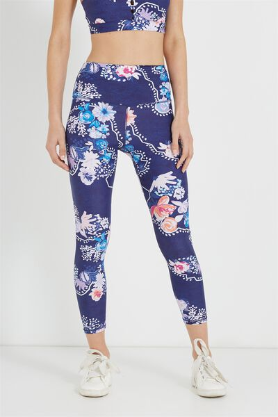Highwaisted Yoga 7/8 Tight, YOGA FLORAL