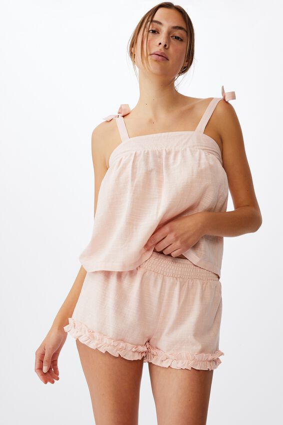 Woven Bed Cami, DUSTY BLUSH
