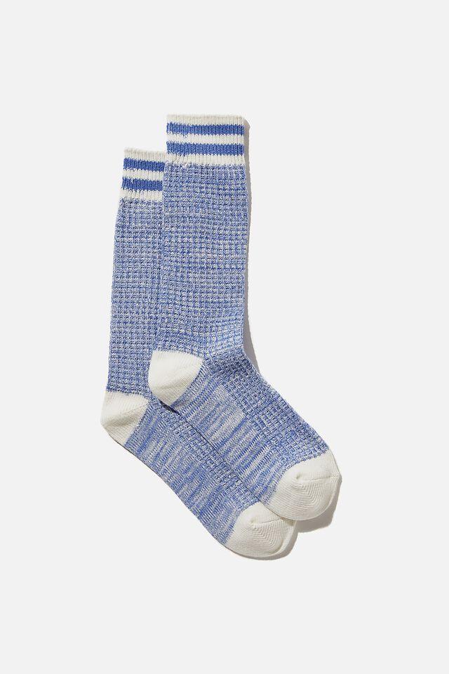 Knit Crew Sock, BALLAD BLUE MARLE