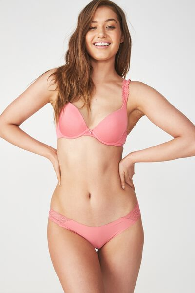 Party Pants Seamless Brasiliano Brief, ROSEY PINK