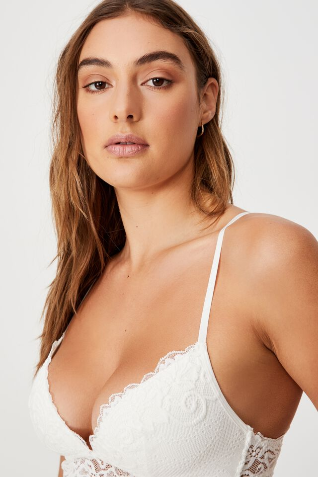 Ainsley Lace Wirefree Bra, CREAM