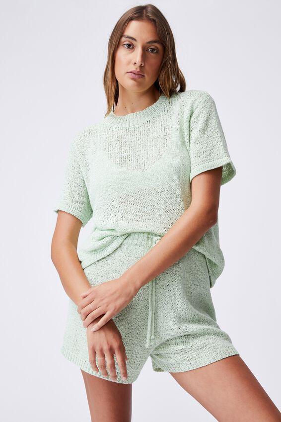 Summer Lounge T-Shirt, MISTY AQUA