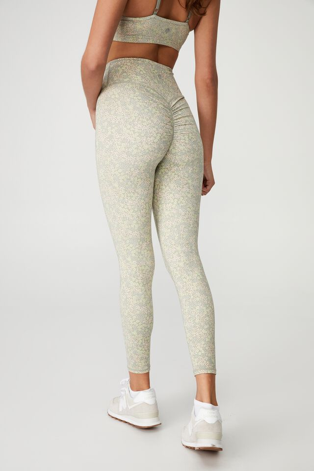 Contouring Scrunch Bum Booty 7/8 Tight, DITSY VARIETY FLOWER
