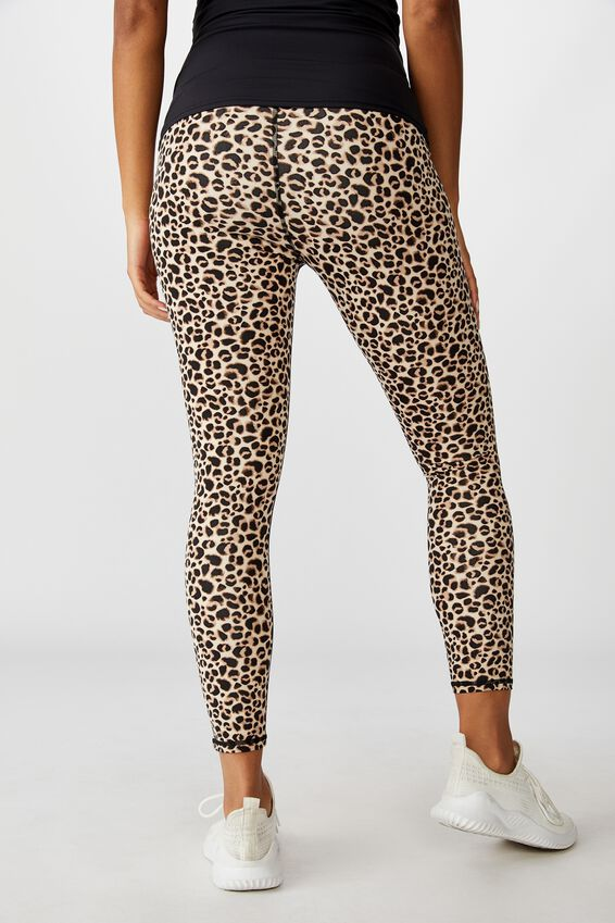Maternity Lifestyle 7/8 Tight, DENSE MINI LEOPARD