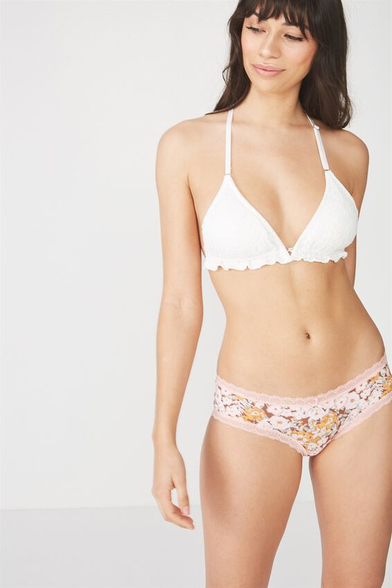 Smooth Lace Trim Boyleg Brief, HAZEL MISTED BLOOM