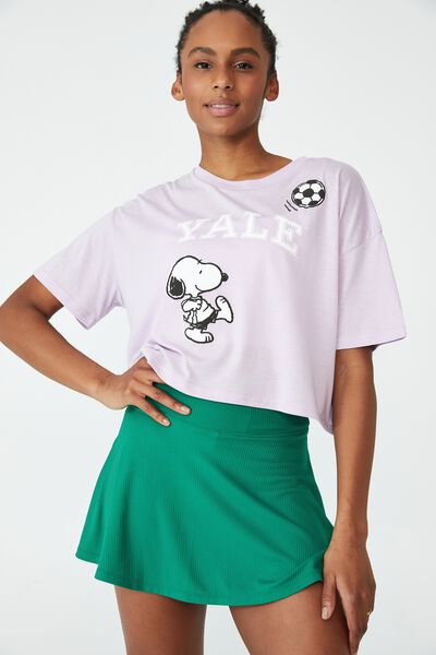 Relaxed Active Graphic T-Shirt, LILAC/YALE SNOOPY SOCCER