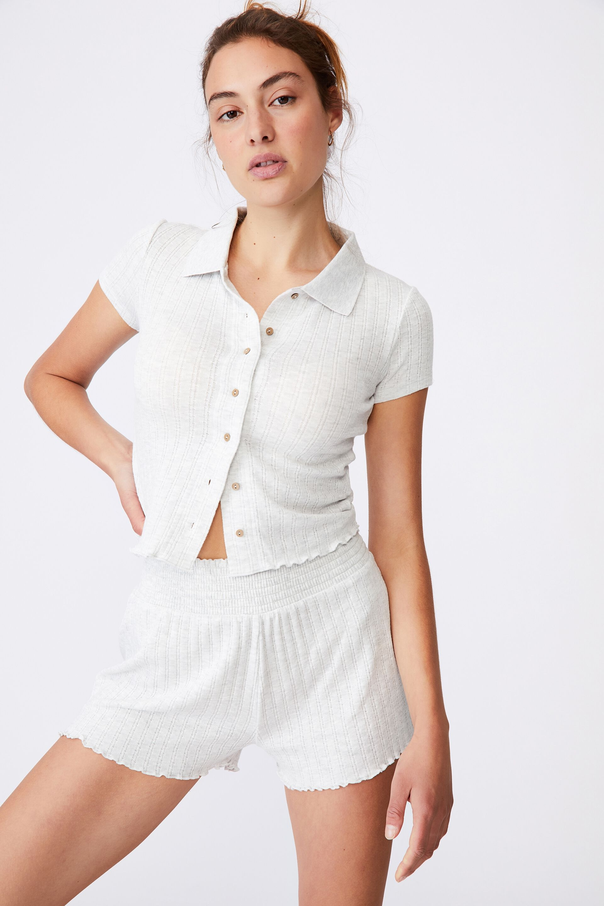 Knit Pointelle Bed Short | Cotton On