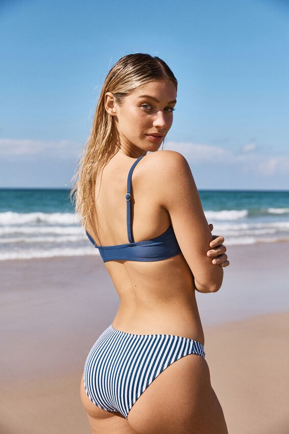 Classic Full Bikini Bottom, BLUE STRIPE