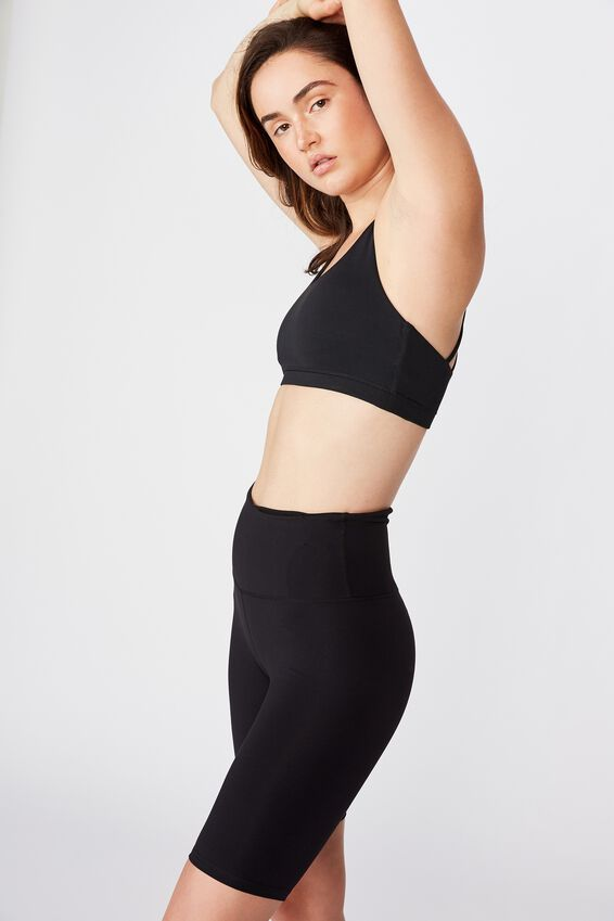 Highwaisted Mid Length Bike Short, CORE BLACK