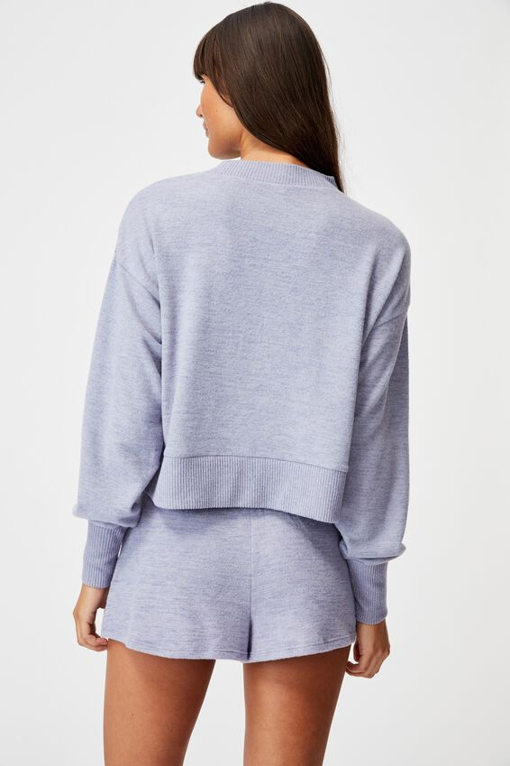 Super Soft Long Sleeve Crew, PERIWINKLE MARLE