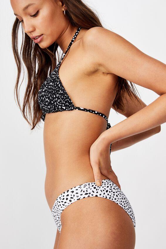 Classic Full Bikini Bottom, SPECKLE SPOT WHITE