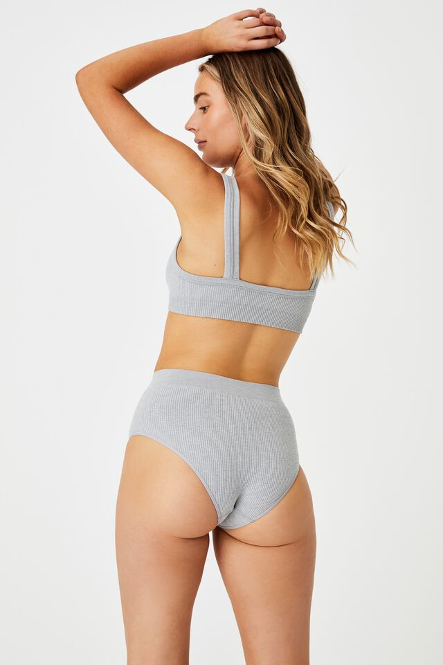Seamfree Mumdie Bikini Brief, LT GREY MARLE