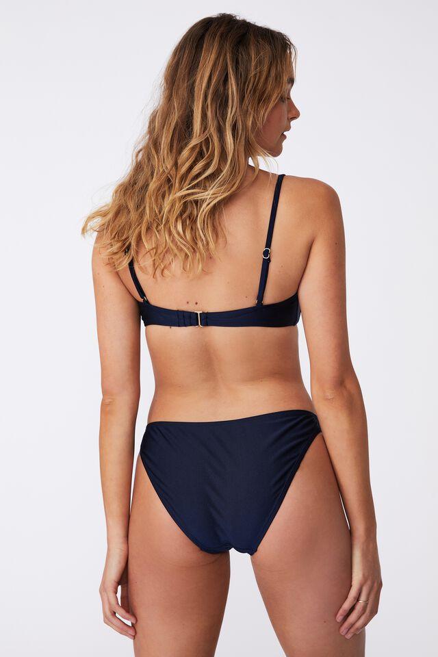 Half Wire Bra Bikini Top Shimmer, MIDNIGHT SHIMMER