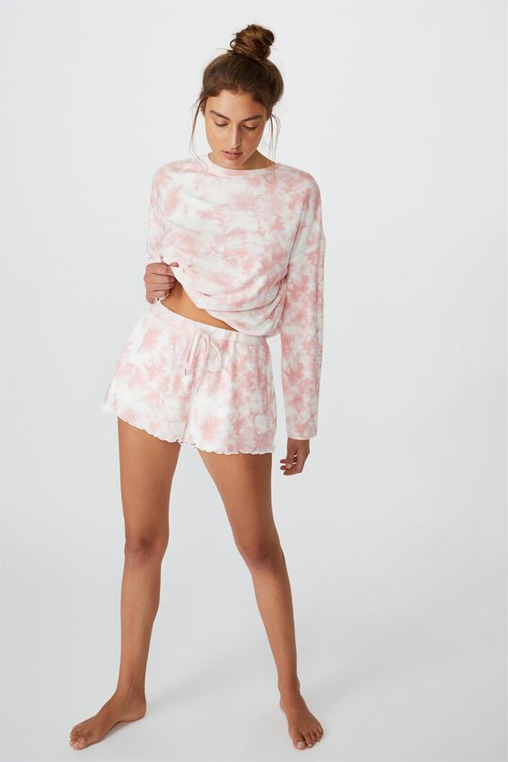 Super Soft Relaxed Short, CRYSTAL PINK OMBRE MARLE