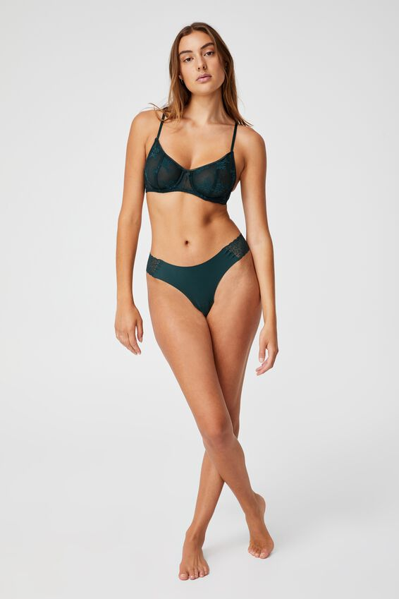 Party Pants Seamless G-String Brief, WINTER GREEN