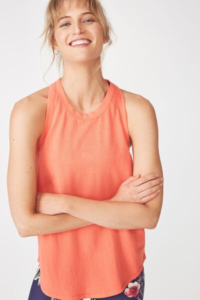 Workout Tank Top, HOT CORAL