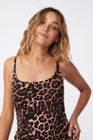 Side Gather One Piece Full, EXOTIC LEOPARD