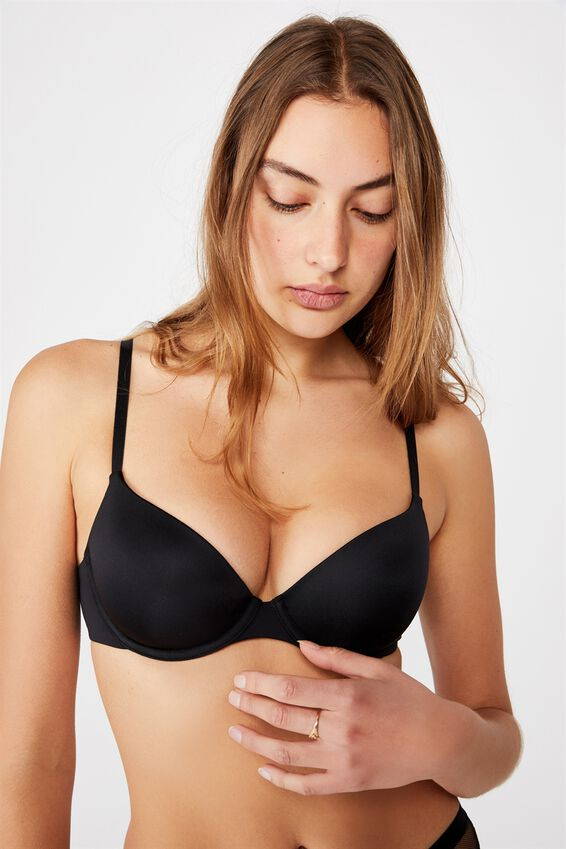 Ultimate Comfort T-Shirt Bra, BLACK