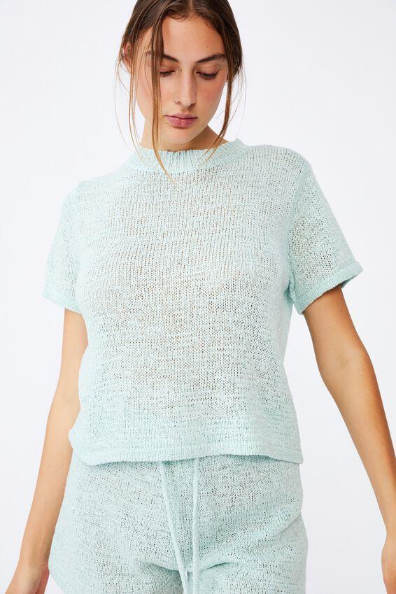 Summer Lounge T-Shirt, AQUA SPLASH