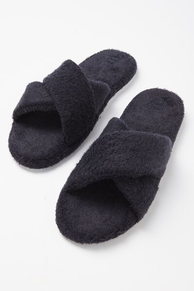 Wap Crossover Slide Slipper, NAVY