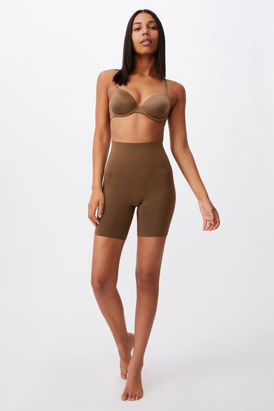 Smoother And Shaper High Waist Short, ESPRESSO