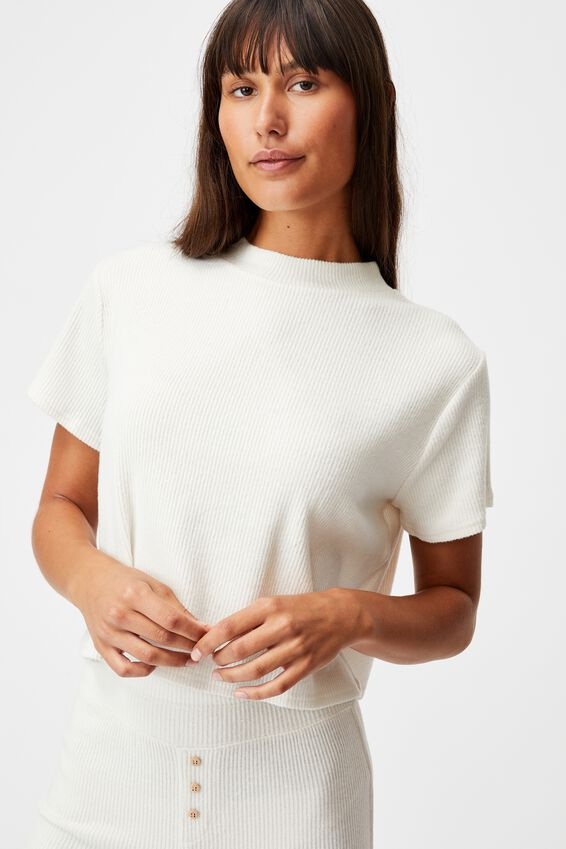 Super Soft Lounge T-Shirt, OATMEAL MARLE RIB