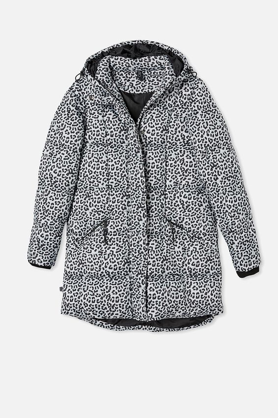 The Mother Mid Length Puffer Jacket, WINTER ANIMAL
