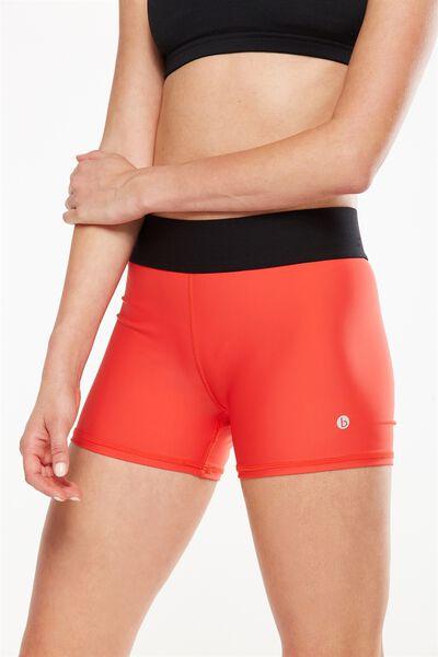 Active Gym Short, POPPY RED