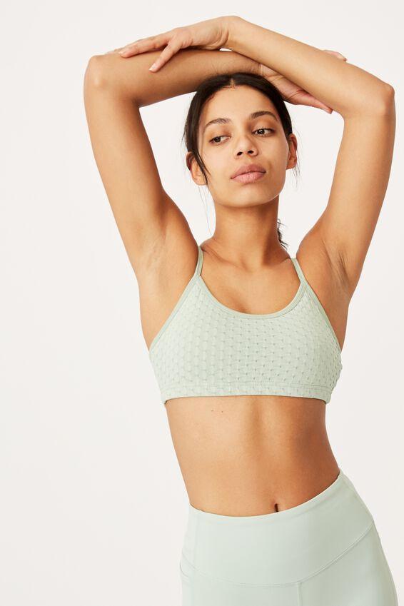 Workout Yoga Crop, MINT CHIP TEXTURE