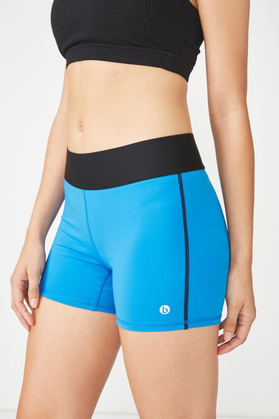 Active Gym Short, ELECTRIC BLUE / BLACK