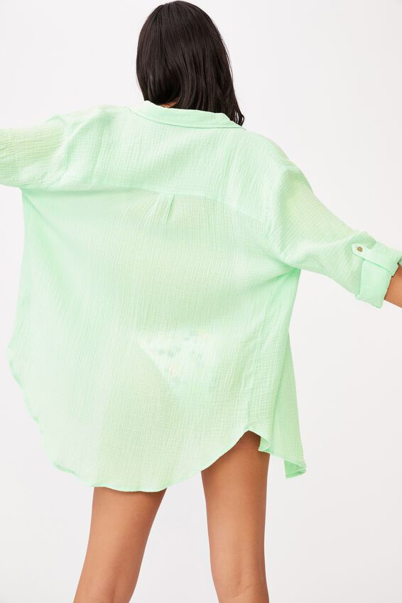 Oversized Beach Shirt, MINT
