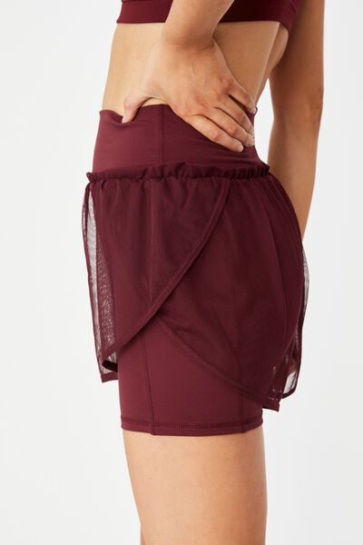Double Layer Run Short, MULBERRY