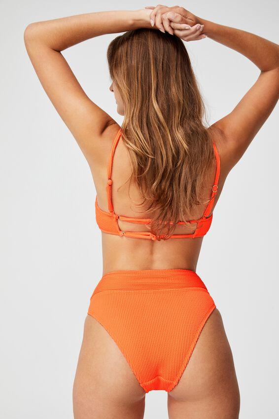 Highwaisted Cheeky Bikini Bottom, MANGO CRINKLE