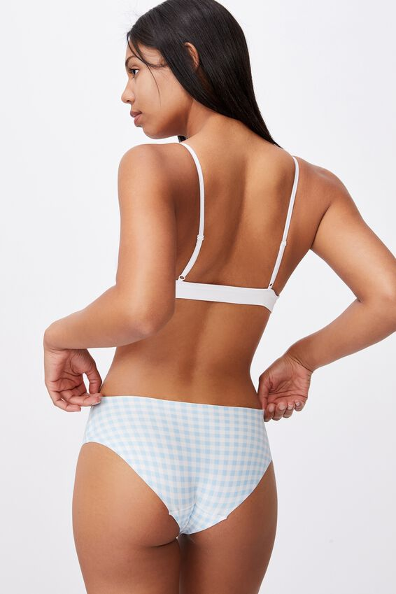 The Invisible Bikini Brief, CLEAR SKY CLASSIC GINGHAM