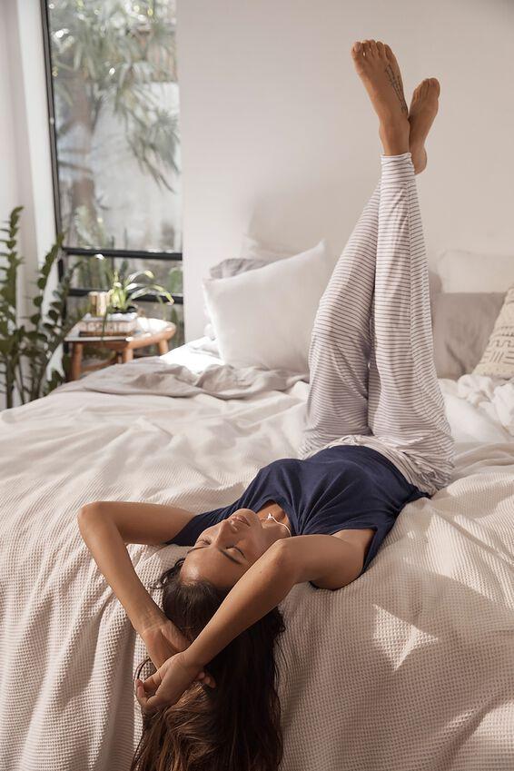 Sleep Recovery Pant, MIDNIGHT STRIPE