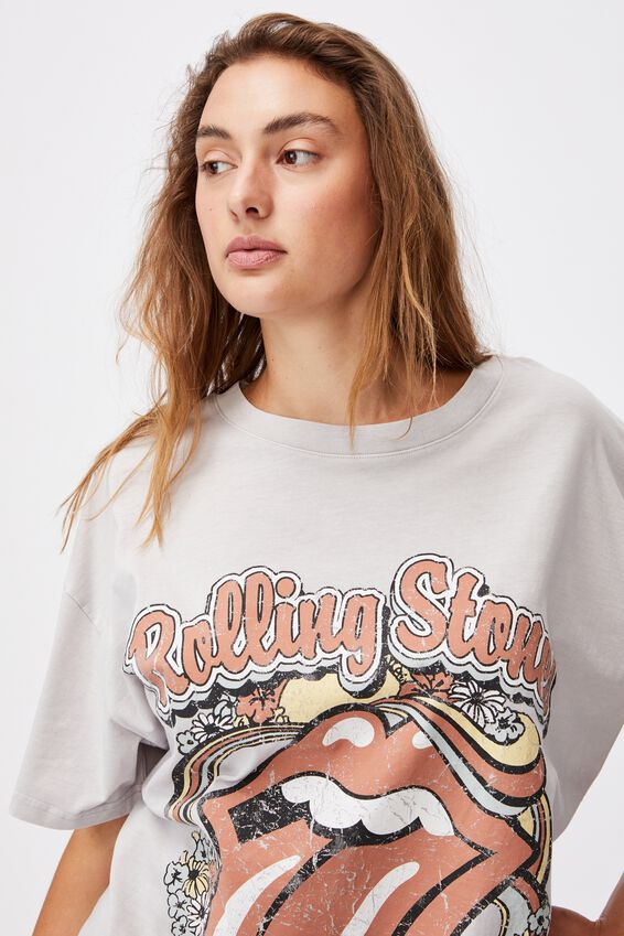 90 S Tshirt Nightie, LCN BR ROLLING STONES WASHED QUAIL