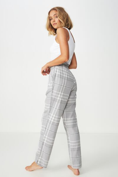 Flannel Paper Bag Pant, GREYS CHECK