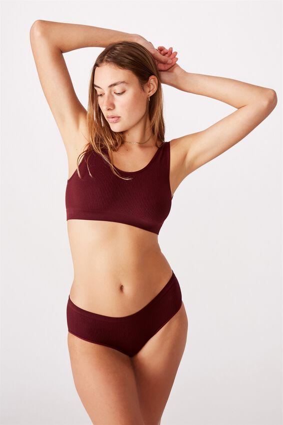 Seamless Bikini Brief, MULBERRY