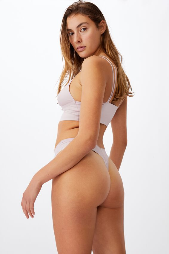 The Invisible G String Brief, OLD ROSE