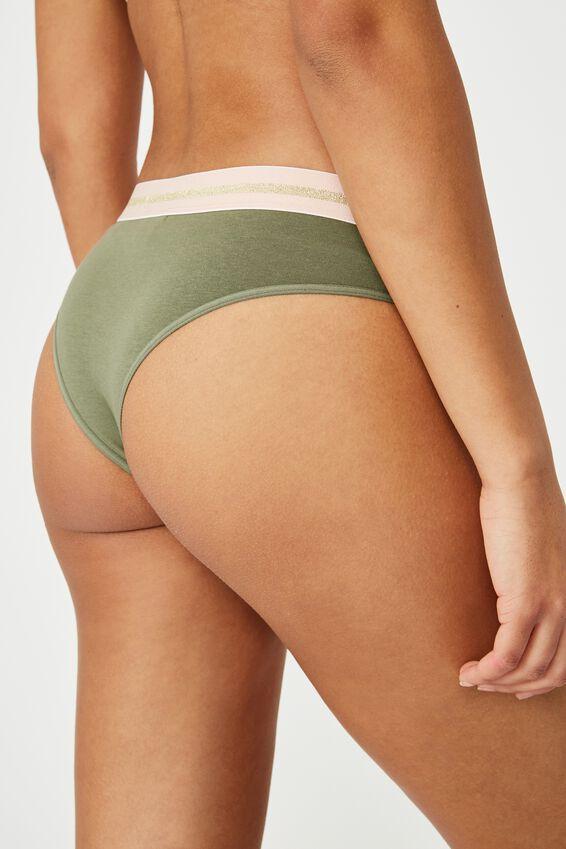 Sporty Femme Brasiliano Brief, OLIVE BRANCH/MIDNIGHT/WHITE