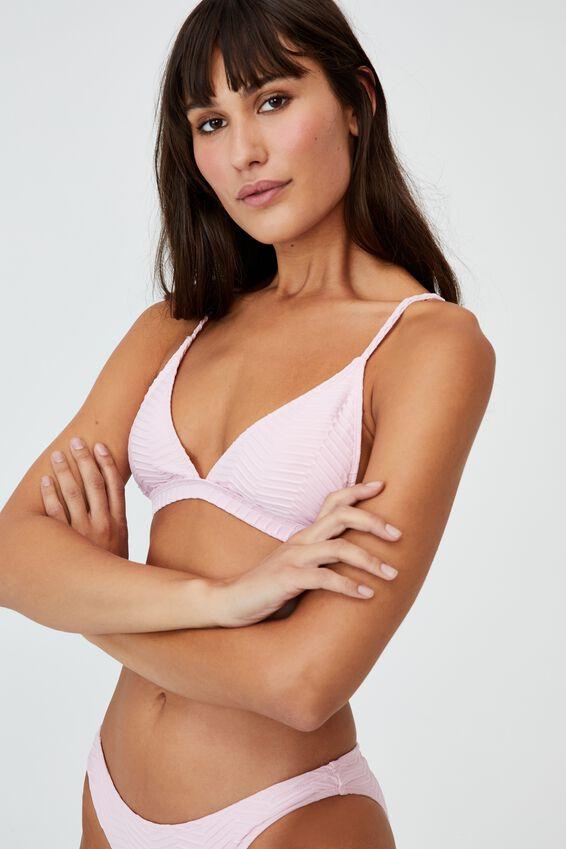 Fixed Triangle Bikini Top, FAIRYTALE TEXTURE
