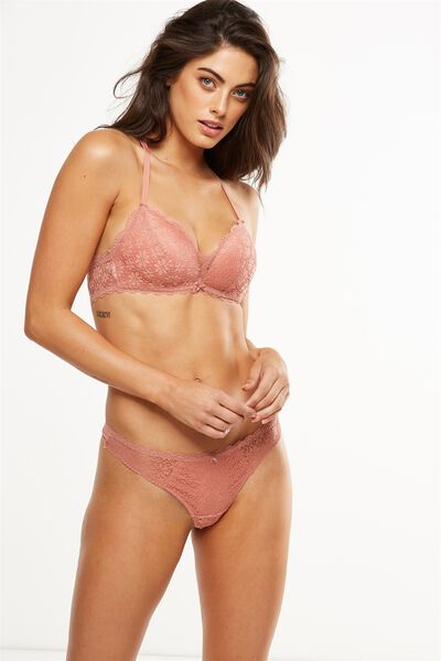 Jojo Wire Free Lift Bra, POWDER PEACH