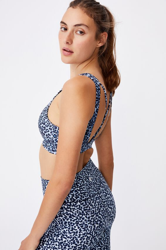 Cutout Back Crop, WILD THING NAVY
