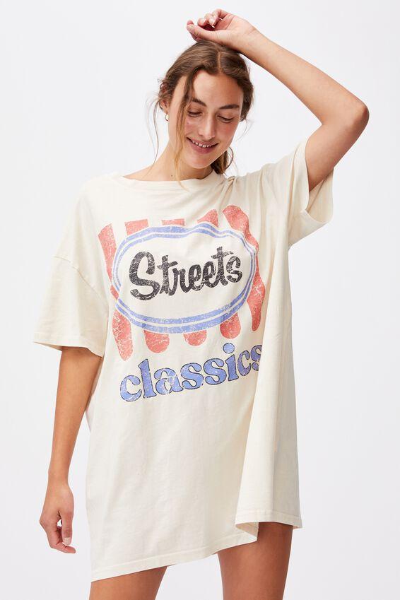 90 S Tshirt Nightie, LCN STREETS LOGO