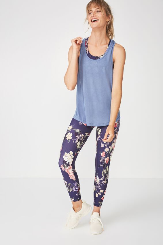 Double Back Racer Tank, CHALKY BLUE