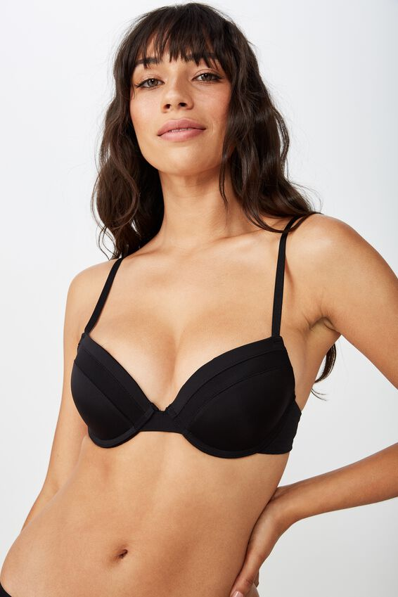 Everyday Mesh Push Up, BLACK