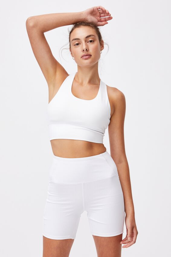 Ultimate Longline Crop, WHITE