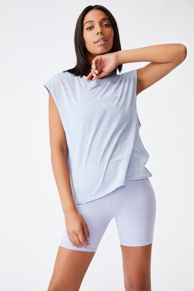 Lifestyle Slouchy Muscle Tank, BALTIC BLUE