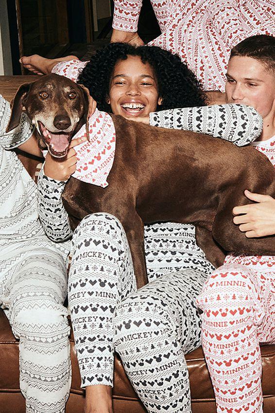 Body Buddy Pet Bandana, LCN DIS MICKEY & MINNIE FAIR ISLE RED